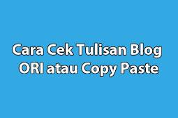 Mudah Banget! Begini Cara Cek Tulisan Blog yang ORI atau Copy Paste (Copas)