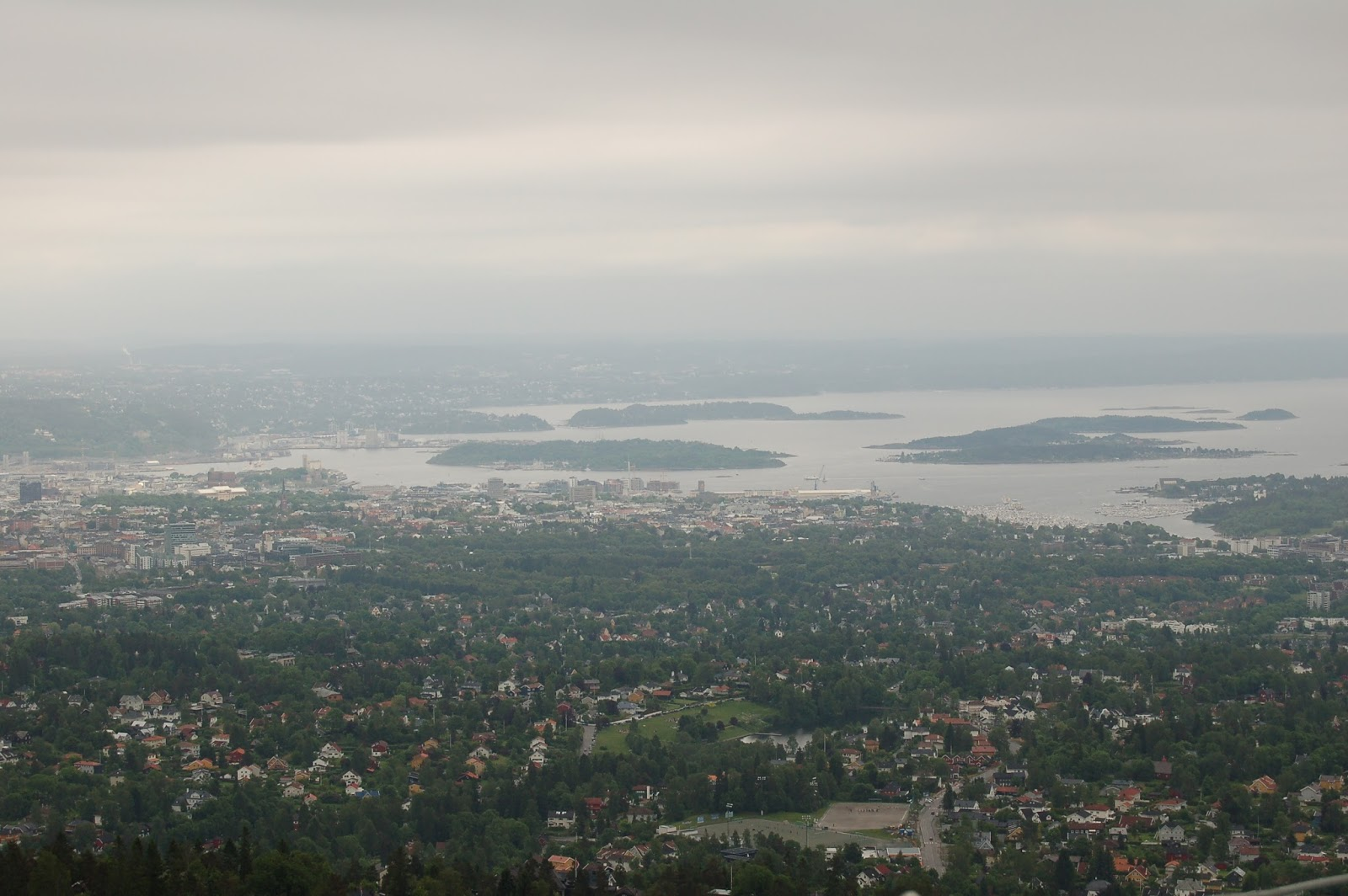 Holmenkollen, widok na Oslo, Norwegia