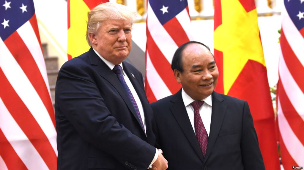Image result for Trump with Phúc in Hanội