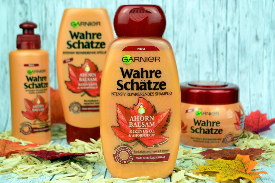 Garnier Wahre Schätze Ahorn Balsam Intensiv reparierendes Shampoo