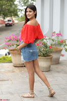 Rhea Chakraborty in Red Crop Top and Denim Shorts Spicy Pics ~  Exclusive 176.JPG