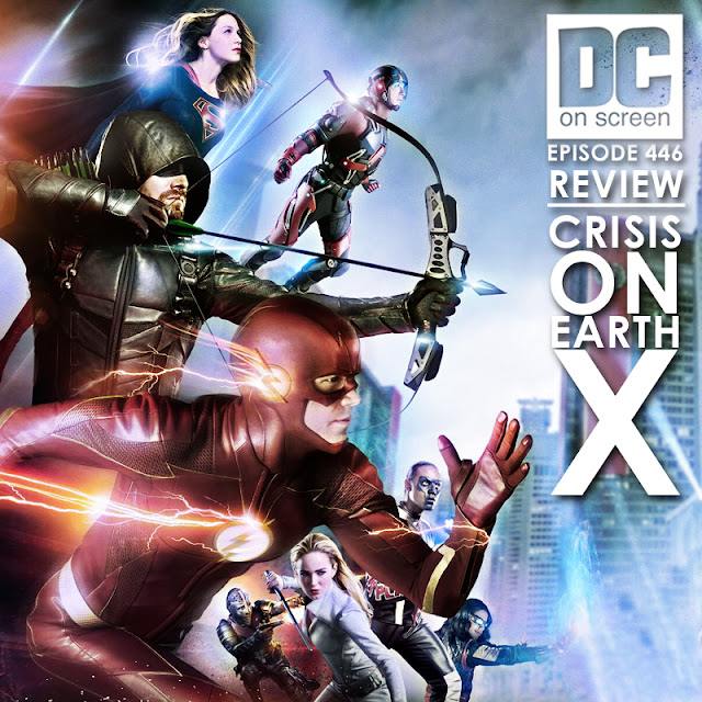 Supergirl teams up with Green Arrow, The Flash, and the Legends of Tomorrow to protect Earth 1 from the Nazis of Earth x!