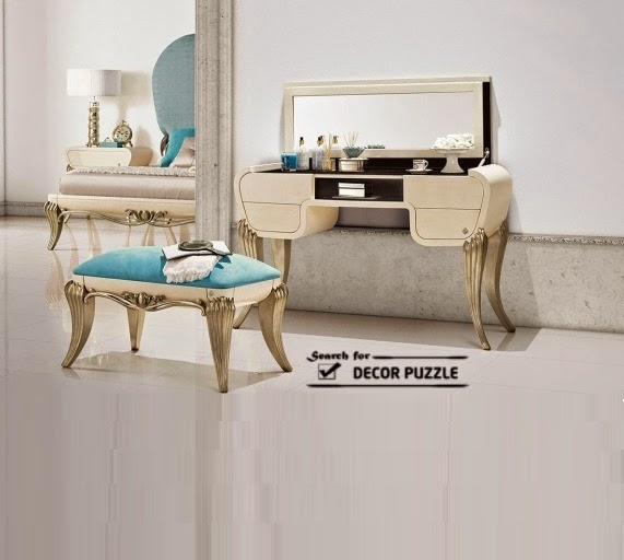 Victorian dressing table with luxury chair