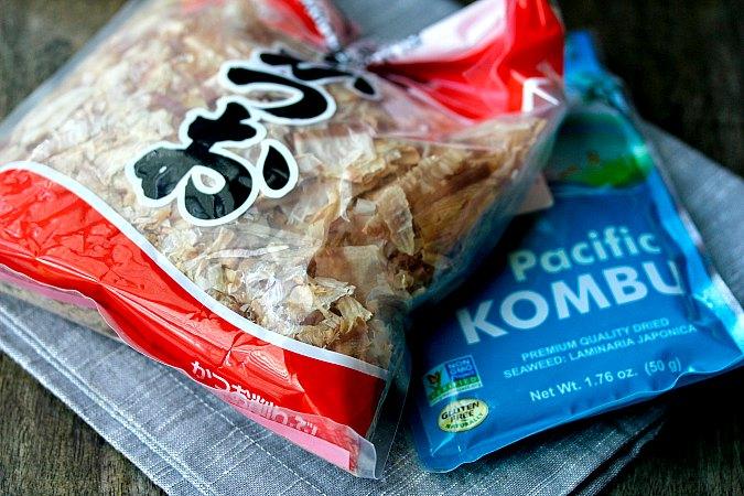 bonito flakes and konbu