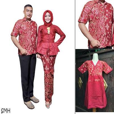 Dress batik sarimbit model muslim untuk anak muda