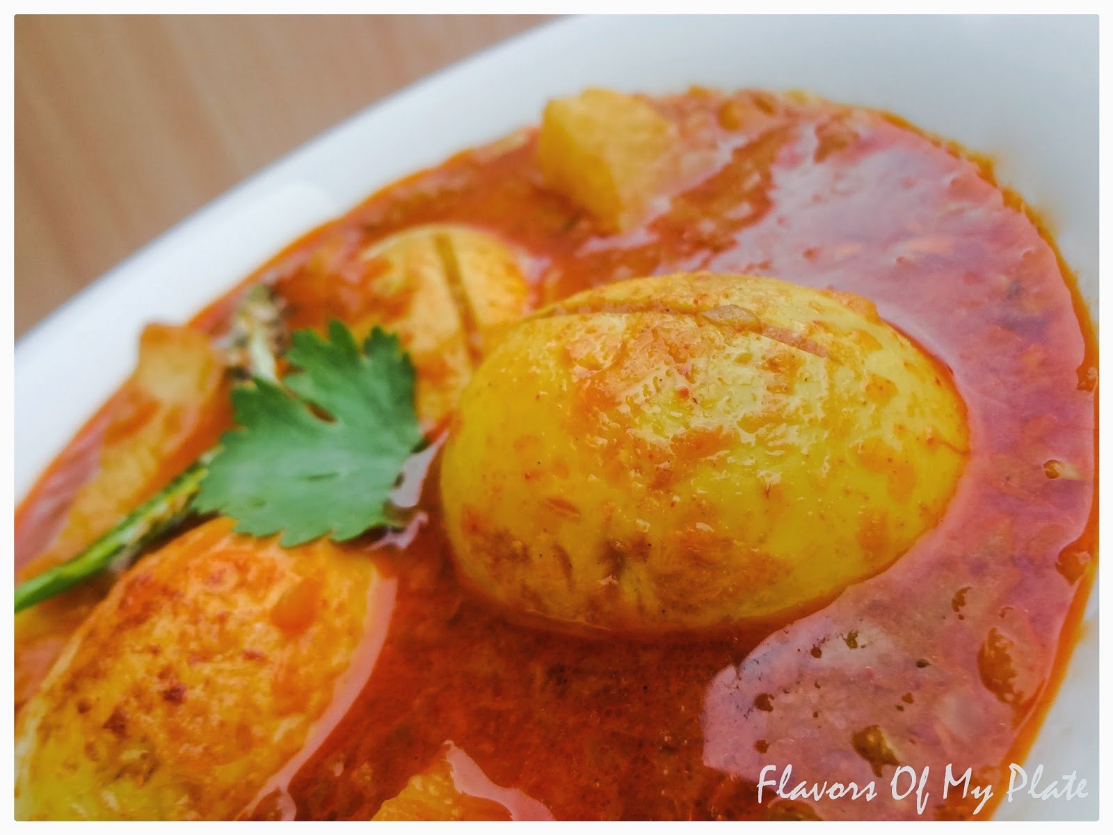 Flavors Of My Plate: Garlicky Egg Curry....A simple recipe to satisfy ...