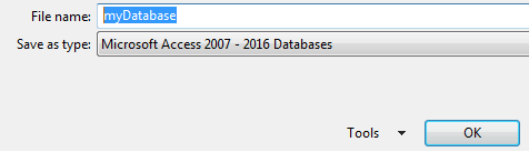 Create a simple database with access III