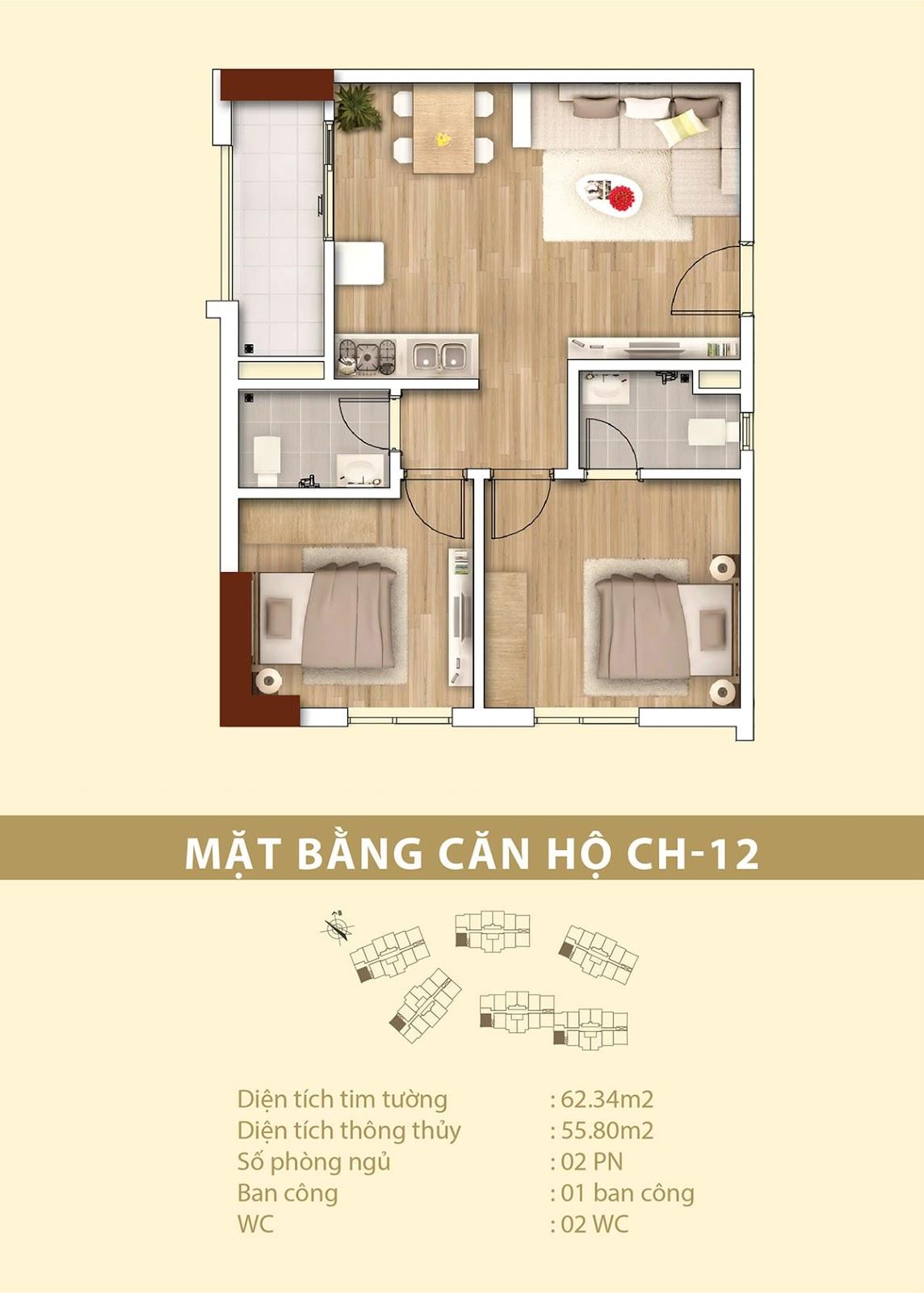 Mặt bằng căn hộ Tecco Complex