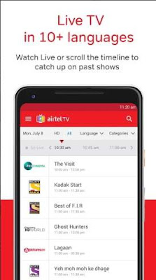 Airtel TV app screenshot