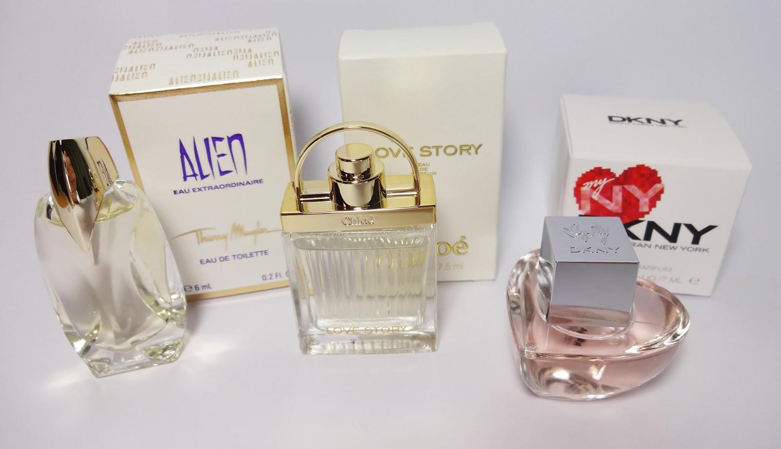 Parfum Minis, Alien, Love Story, DKNY