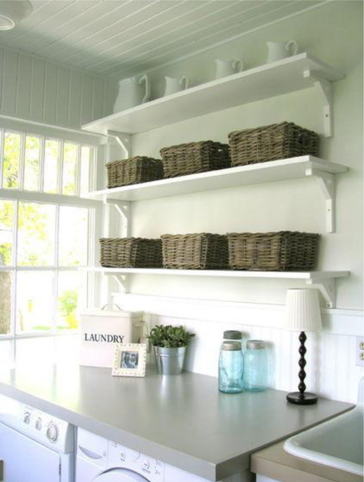 Simplifying Remodeling: Designer's Touch: 10 Tidy Laundry ... on Laundry Room Shelves Ideas  id=61988