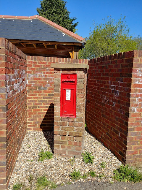 Photograph of Wall box VR at the junction of Roestock Lane and Bullens Green Lane, Roestock Image from the North Mymms History Project released under Creative Commons