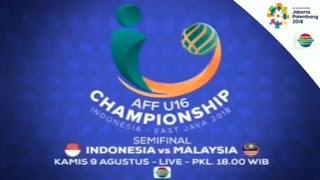 Indonesia vs Malaysia - Semifinal Piala AFF U16 2018