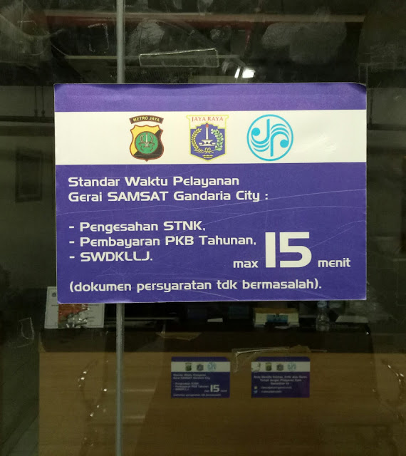 Perpanjangan SIM di Mall Gandaria City