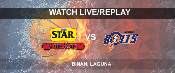 List of Replay Videos Star vs Meralco October 1, 2017 @ Binan, Laguna