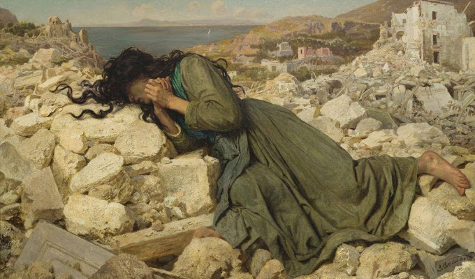 لوحة بعد الزلزال  للأنجليزية صوفي أندرسون