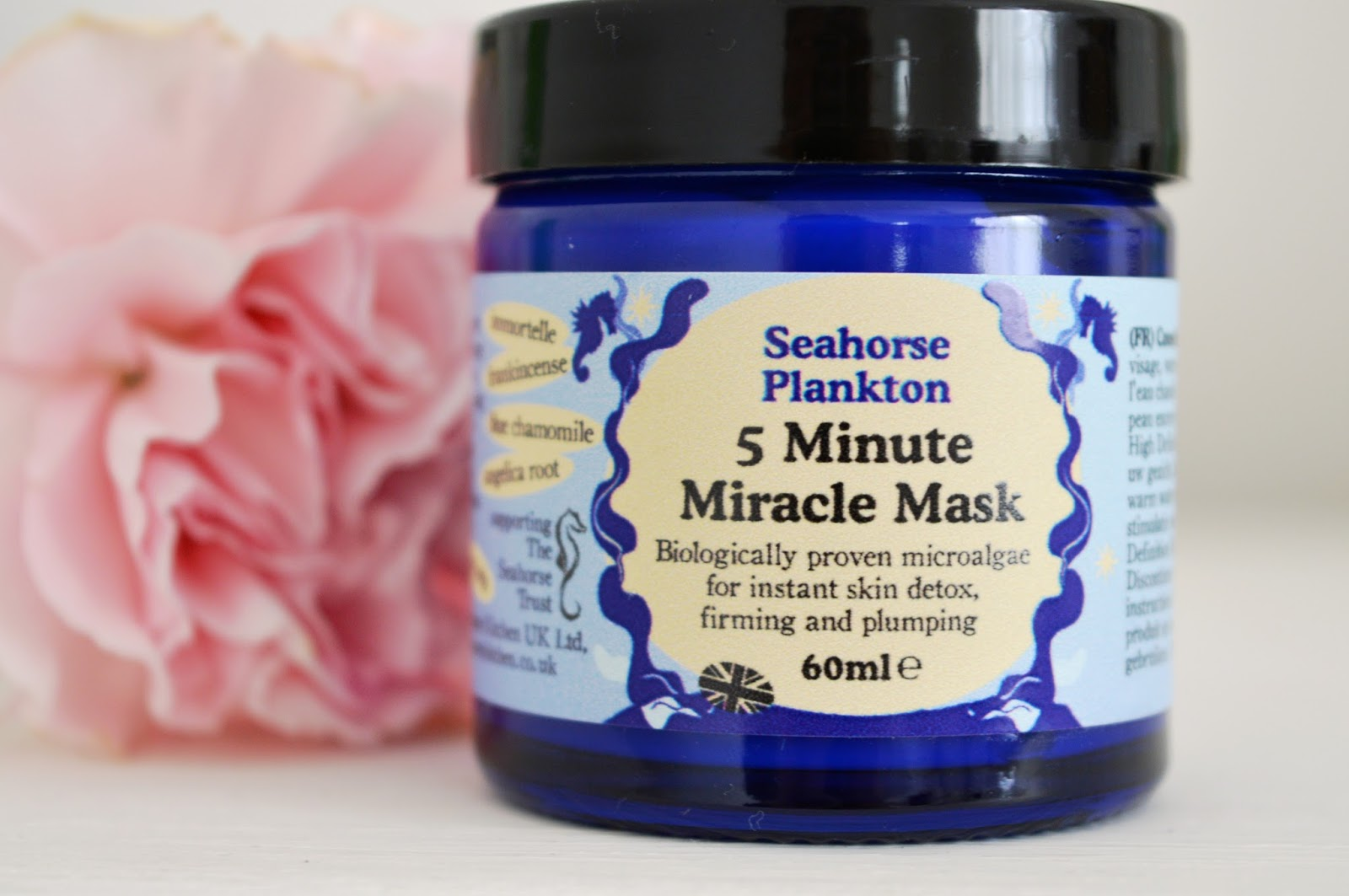 Beauty Kitchen Seahorse Plankton 5 Minute Miracle Mask review, UK beauty blog