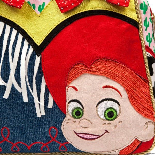 Toy Story Jessie cowgirl applique face close up on handbag