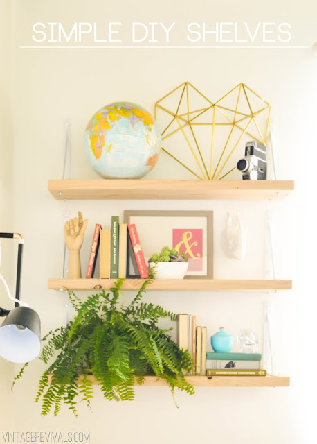 DIY Easy (ish) Wall Shelves