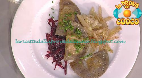 Schlutzkrapfen con caprino e rape ricetta Holzer da Prova del Cuoco