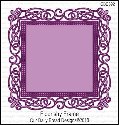 ODBD Custom Die: Flourishy Frame