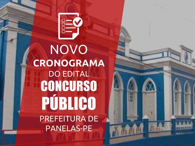 NOVO CRONOGRAMA DO EDITAL CONCURSO PÚBLICO PREFEITURA DE PANELAS-PE