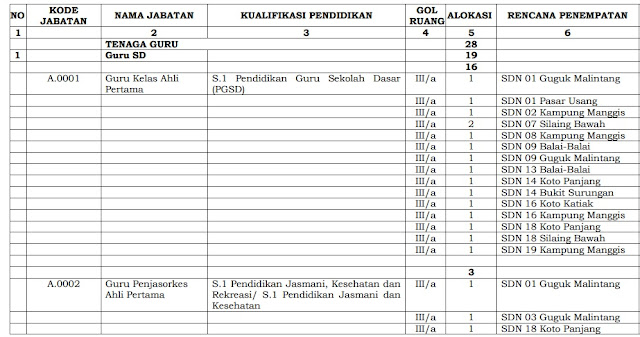 Formasi CPNS 2018 Kota Padang Panjang