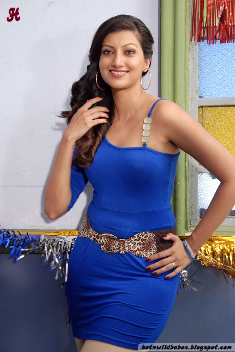 Hamsa Nandini Flaunting Her Shapely Figure In A Blue Skin -5000