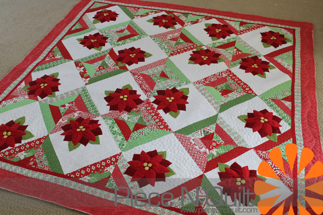 Piece N Quilt Christmas Jelly Roll Quilt