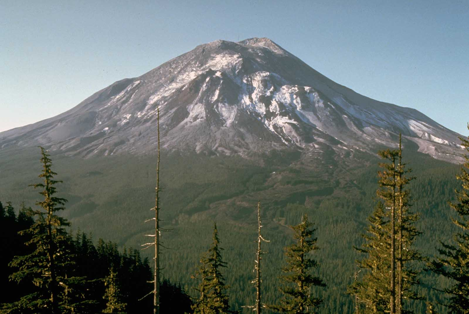Mount St. Helens, as it looked the day before its massive eruption, on May 17, 1980.