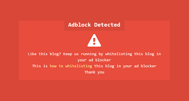 Adblocker Adsense Notification for Kompi Ajaib