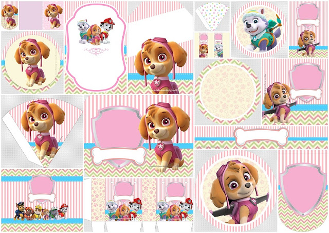 Paw Patrol for Girls: Free Printable Kit.