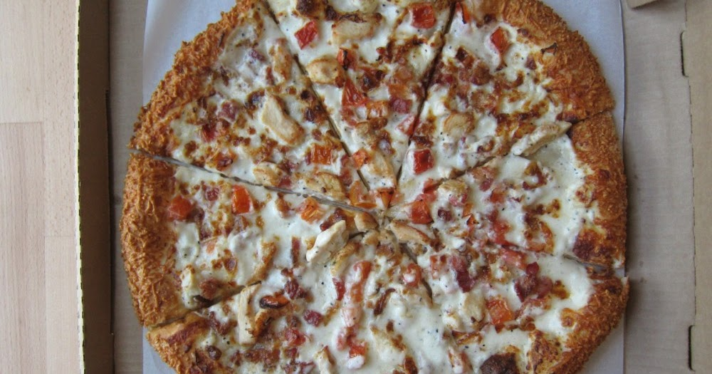 Review Pizza Hut Chicken Bacon Tomato Garlic Parmesan Pizza