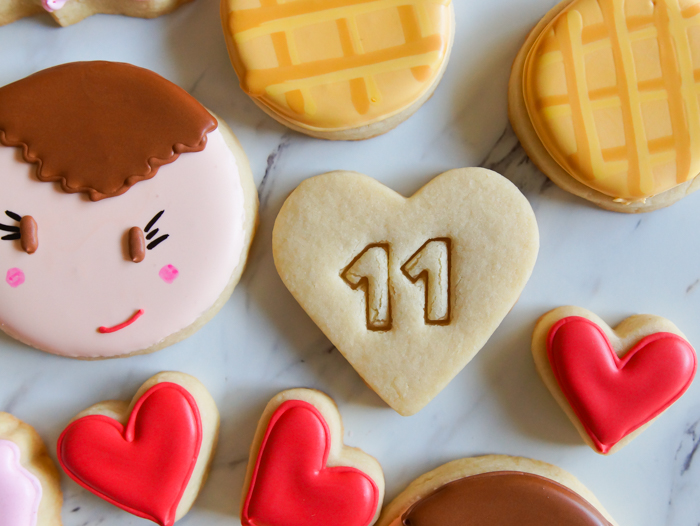 Stranger Things Valentine Decorated Cookies, Eleven cookies | bakeat350.net
