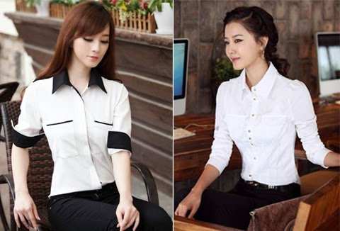 model baju kantor polos