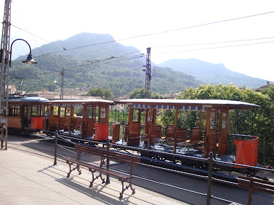 Tram from year 1913 which takes you from Port of Soller to Soller