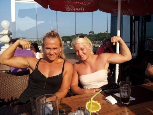 And Massive female bodybuilding Bicep Peaks
