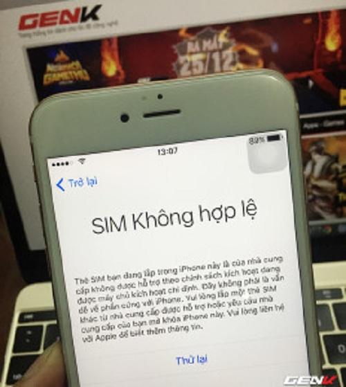 trường hợp iphone 6 phải sử dụng sim ghép