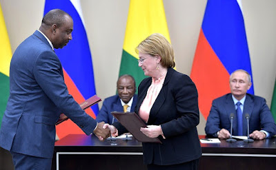 Ceremony of signing Russia-Guinea cooperation documents.