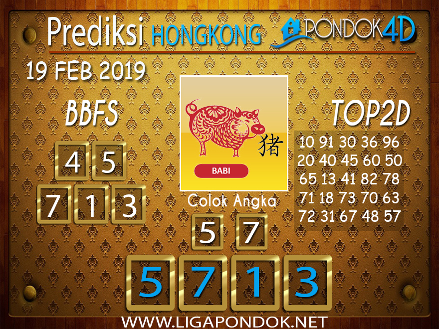 Prediksi Togel HONGKONG PONDOK4D 19 FEBRUARI 2019