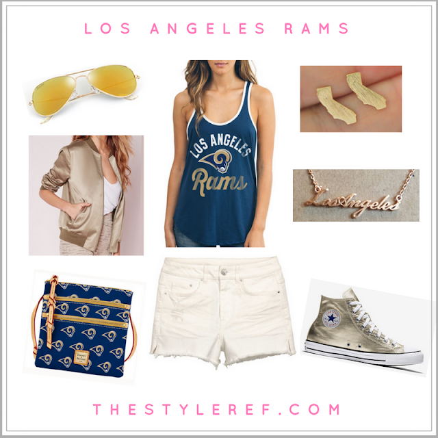 Los Angeles Rams NFL women's fashion outfit