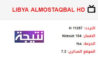 تردد قناة ليبيا المستقبل LIBYA ALMOSTAKBAL HD الجديد 2018 على النايل سات