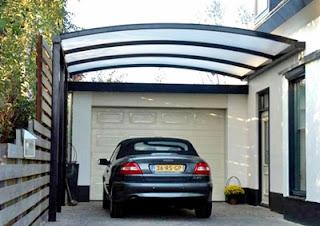 Contoh Desain Gambar Kanopi Garasi Rumah Minimalis