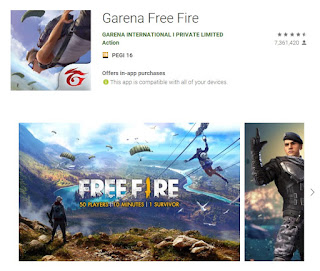 Google Apps, GAMES: GARENA FREE FIRE