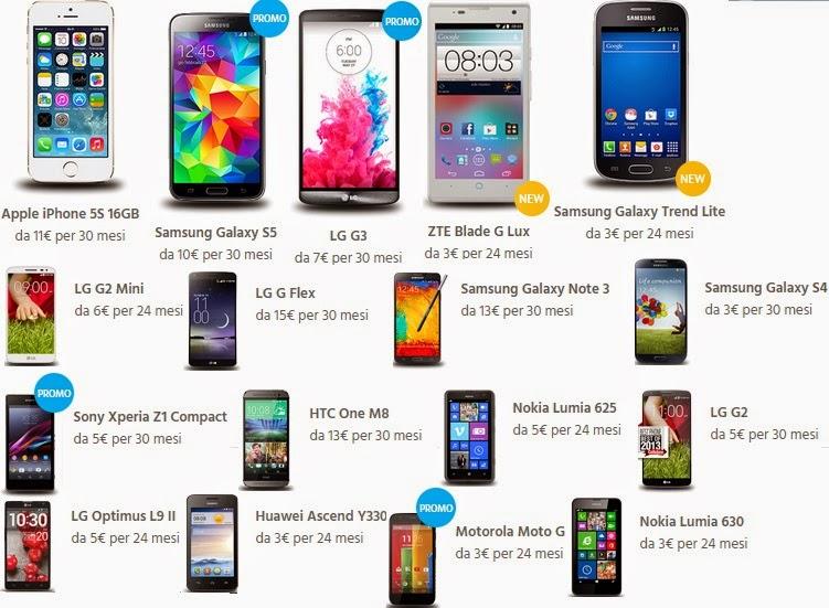 Comprare a Rate Smartphone da Fastweb: Tariffe, Modelli ...