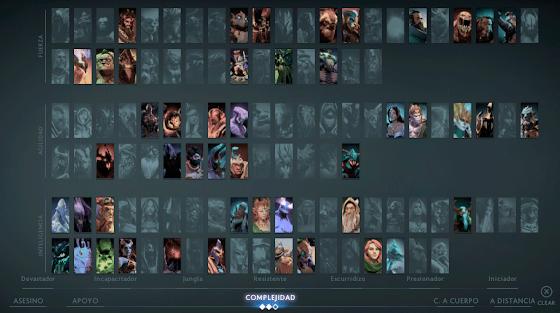Heroes nivel medio dota 2