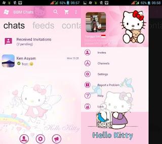 BBM Mod Hello Kitty Apk Versi 3.0.0.18 Clone 2016 Terbaru