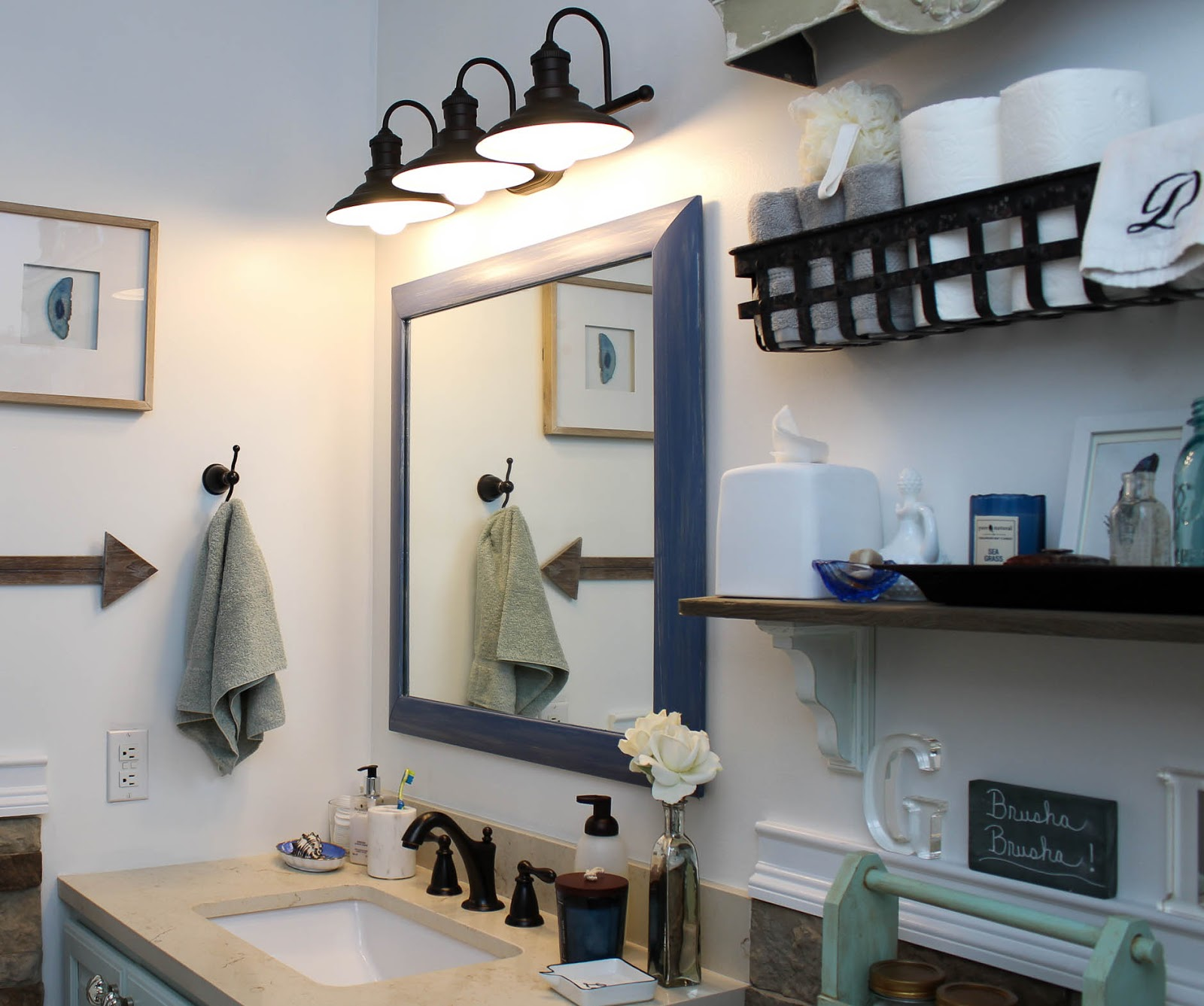 One Room Challenge Week 6 Kids Guest Bathroom Reveal Sweet Parrish