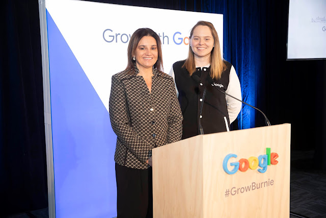 Photo of Tasmanian Senator Jacqui Lambie with Google Australia   Public Policy Manager, Hannah Frank