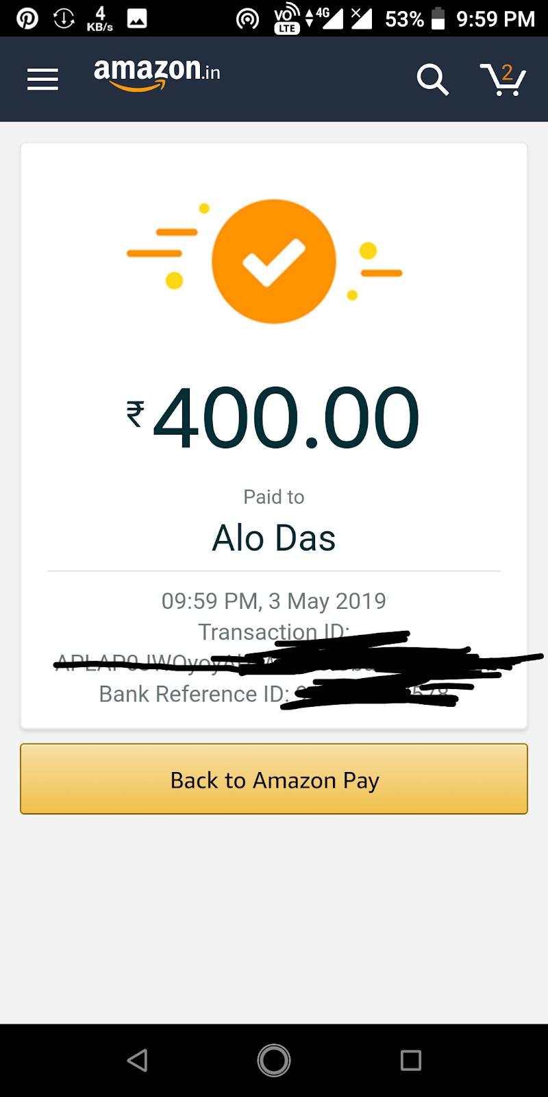 Amazon UPI Loot – Get Rs.100 Amazon Pay Cashback on Money Transfer